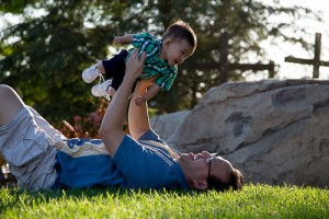 Dr Le and his son playing on the hill at Saddleback Church ©2013 Vu Le, DDS